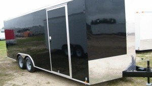 8.5x20 Cargo Trailers Black and White In Stock